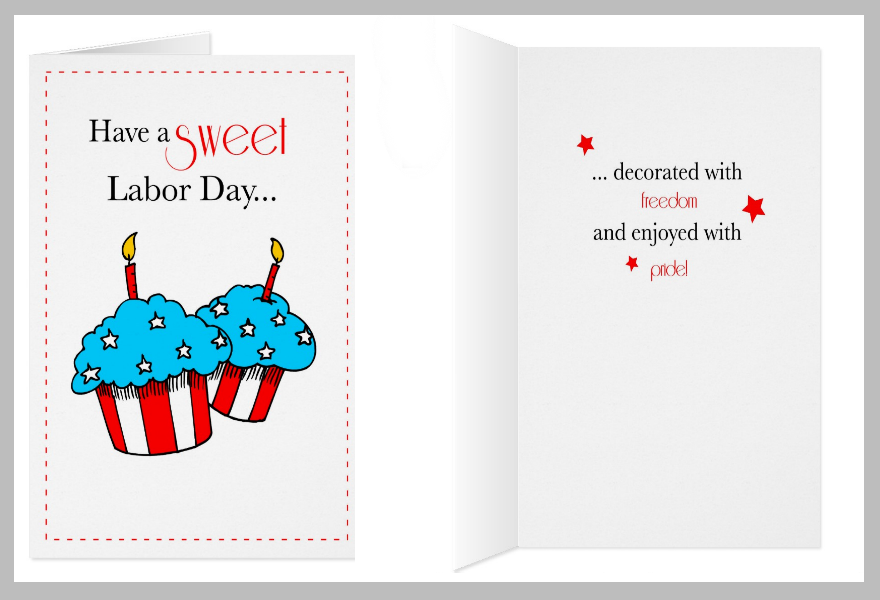Cupcakes Labor Day Greeting Card