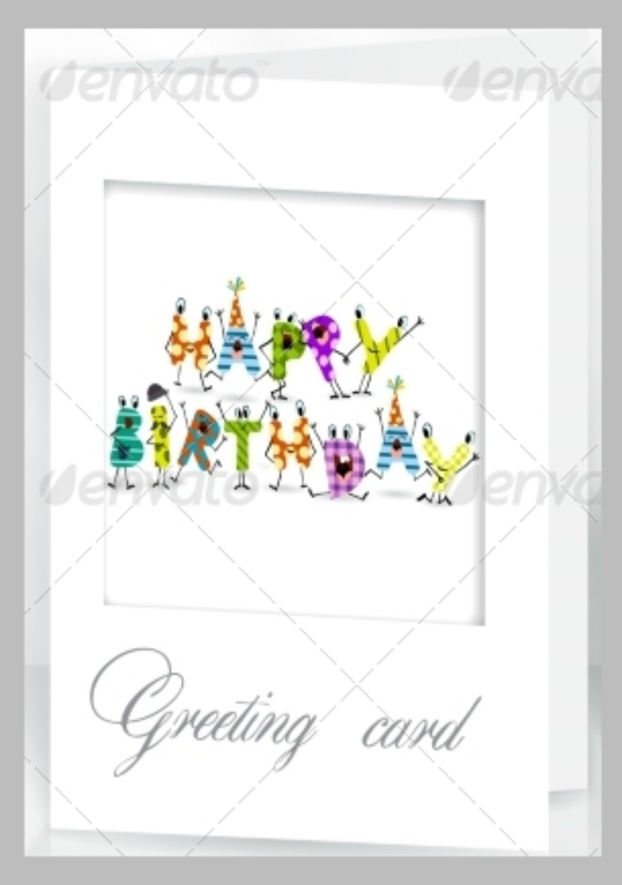 Dots Birthday Greeting Card
