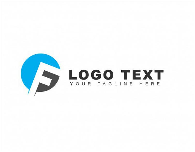 Dual-Colored Round Symbol Letter F Logo