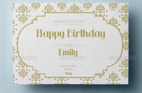 Elegant Birthday Card Psd