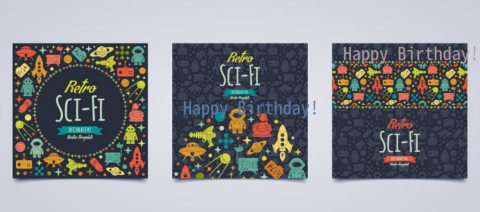Elegant Birthday Card PsdWatercolor Birthday Card PsdChevron Happy Birthday Card PsdSquare Birthday