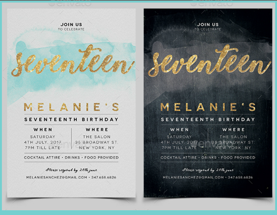 20 Birthday Invitation Card Designs | Design Trends - Premium PSD ...