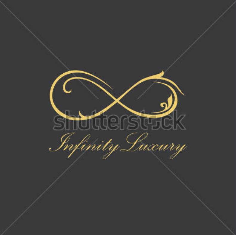 Elegant Gold Infinity Logo