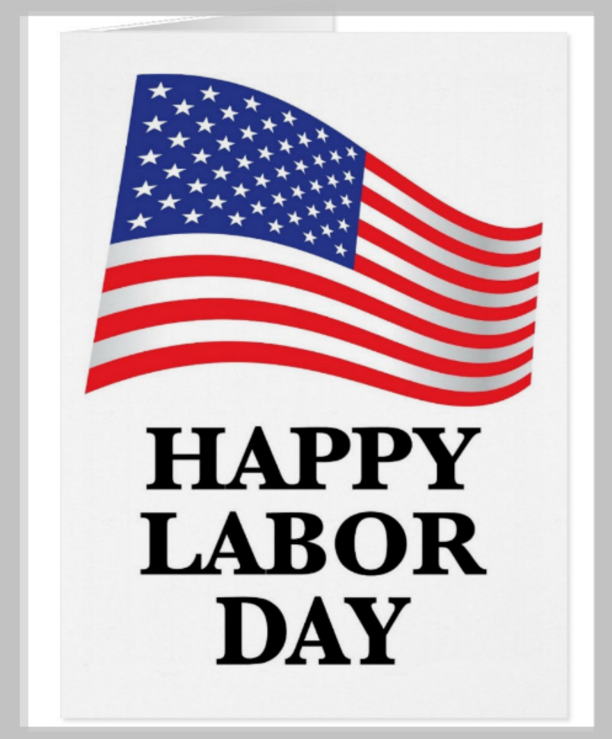 Flag Labor Day Greeting Card