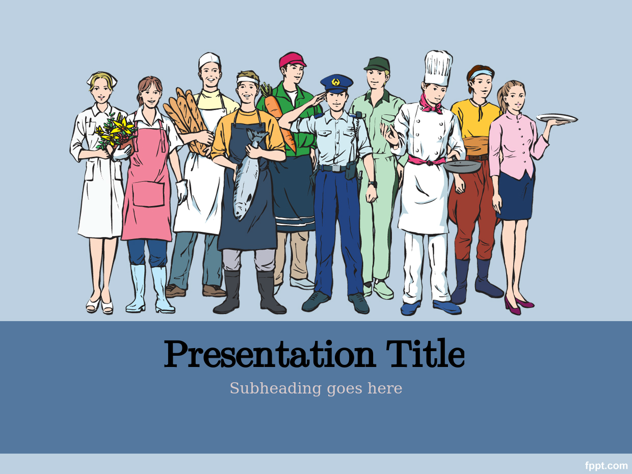 Free Labor Day PowerPoint Template