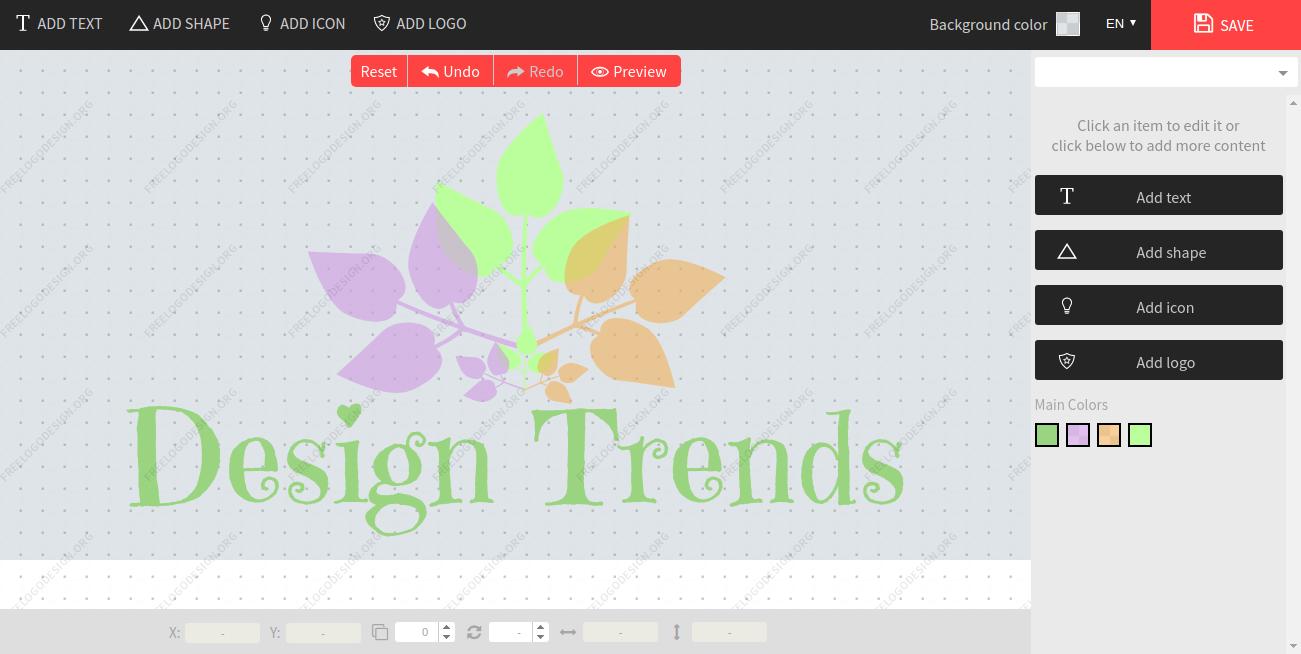 free logo design edit page
