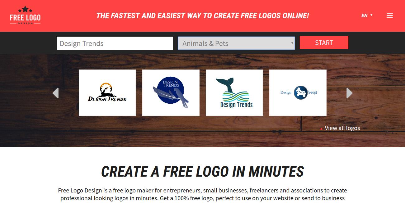 Free Logo Design main page