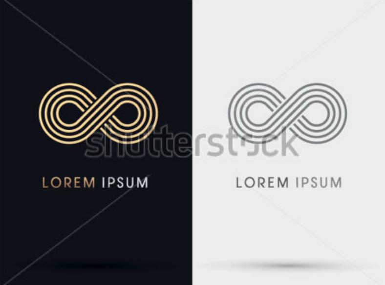 Gold Infinity Symbol Logo