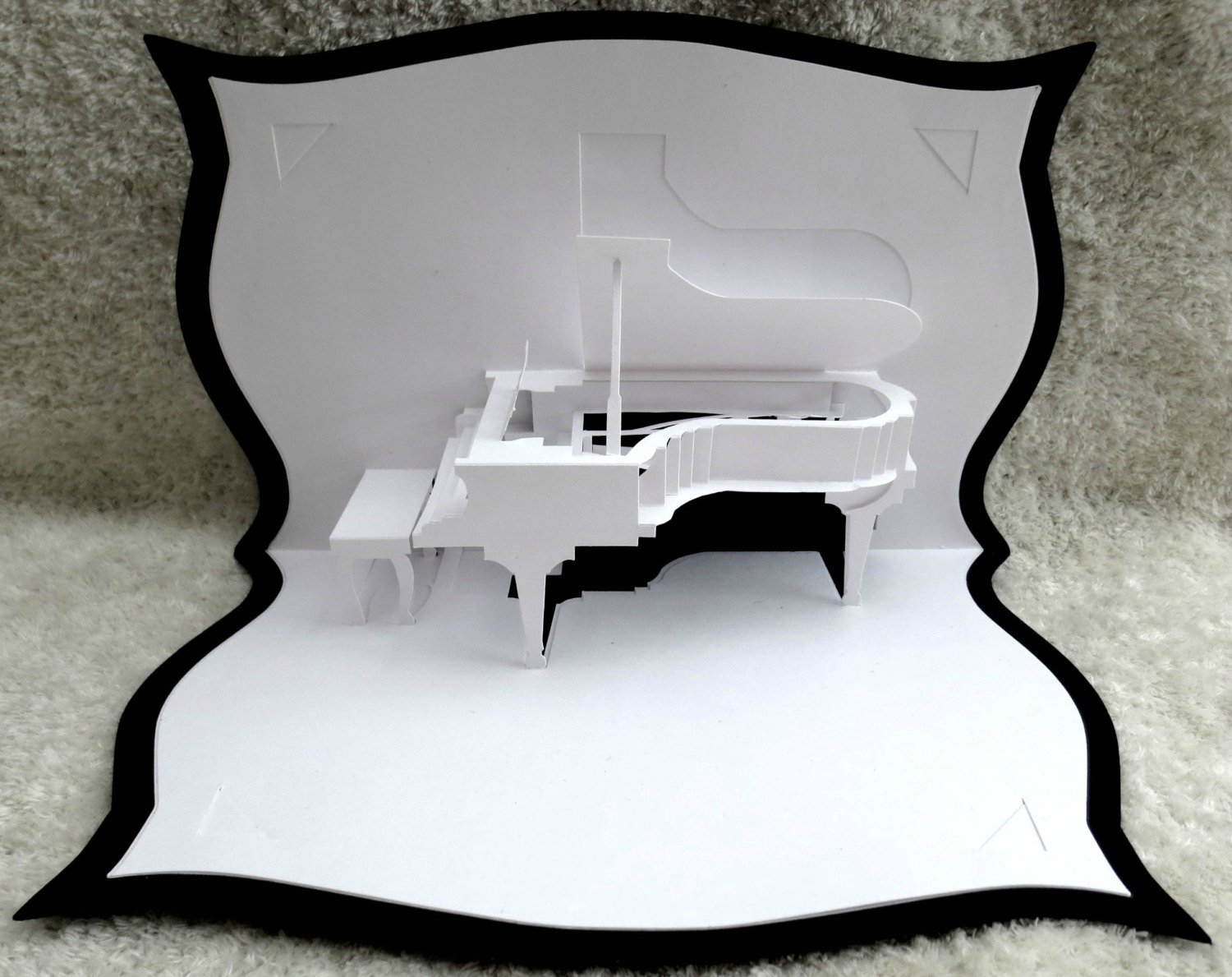 Grand Piano Pop Up Greeting Card