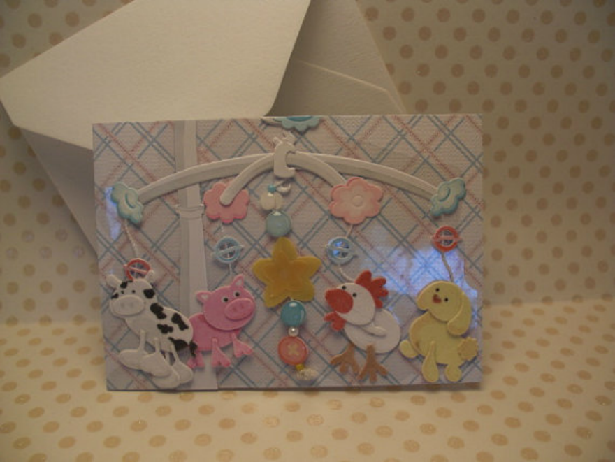 handcrafted baby gift card