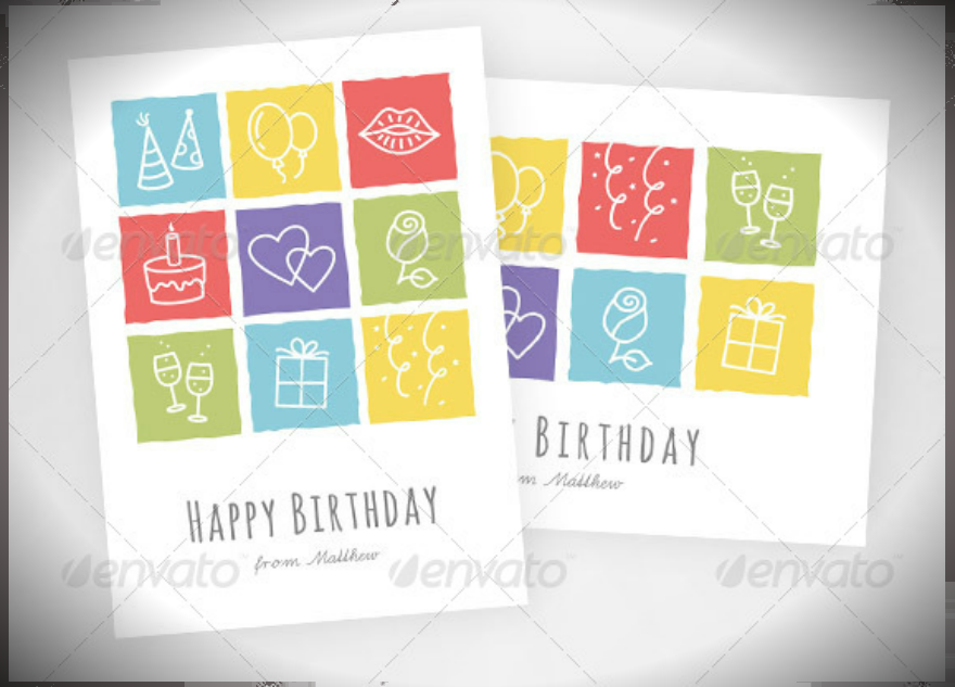 Happy Birthday Card Psd