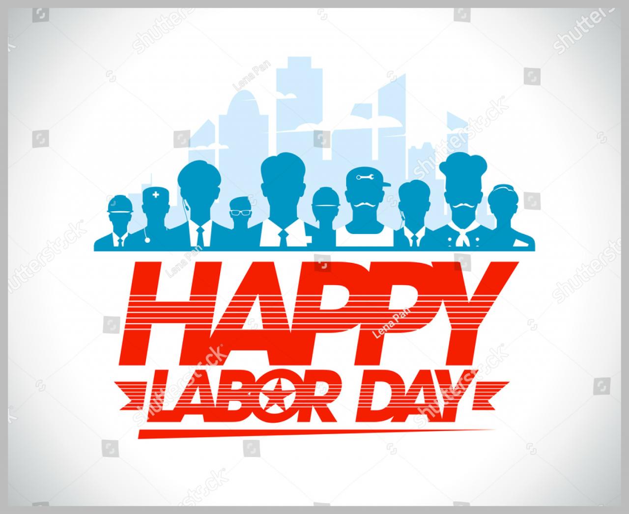 happy labor day silhouettes 1280x1046