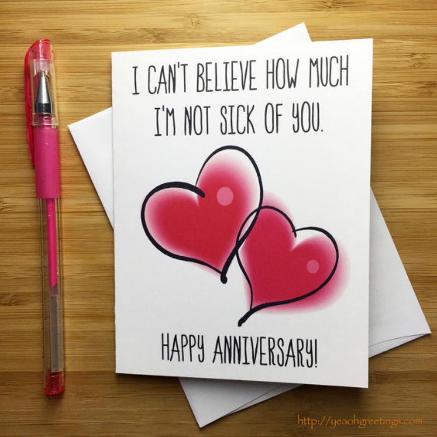 hearts anniversary card