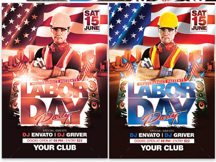 industry labor day party flyer