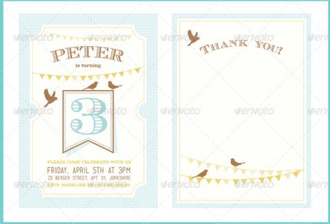Kids Birthday Invitation Card Design
