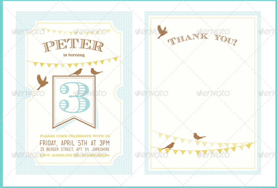 Kids Birthday Invitation Card Design