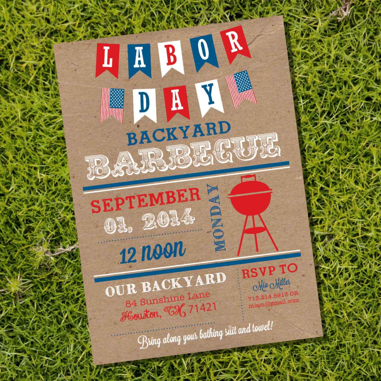 labor day bbq invitation with banners 1280x1280