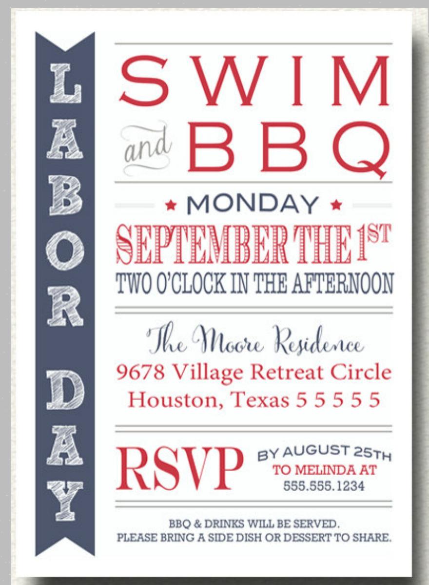 10 Labor Day BBQ Invitation Cards Design Trends Premium PSD