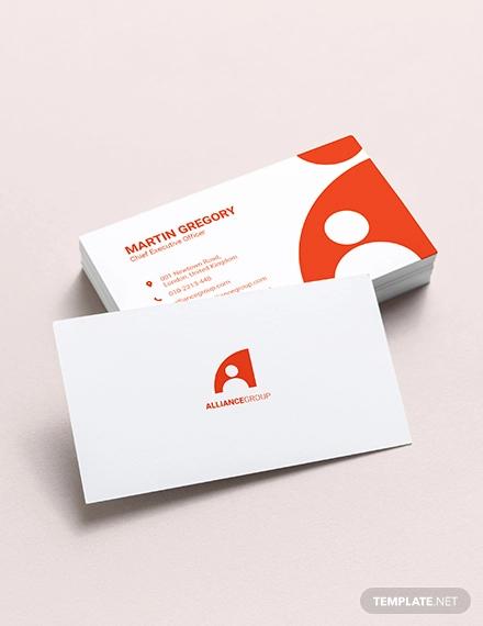 modern ceo business card