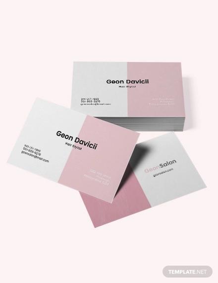 modern salon business card