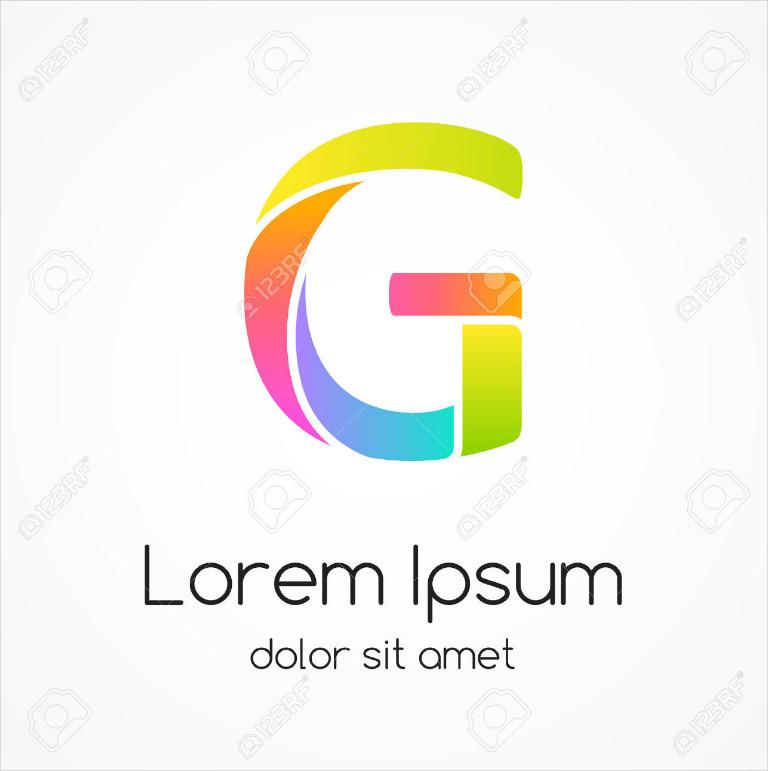 Multicolor Spiral Letter G Vector Logo