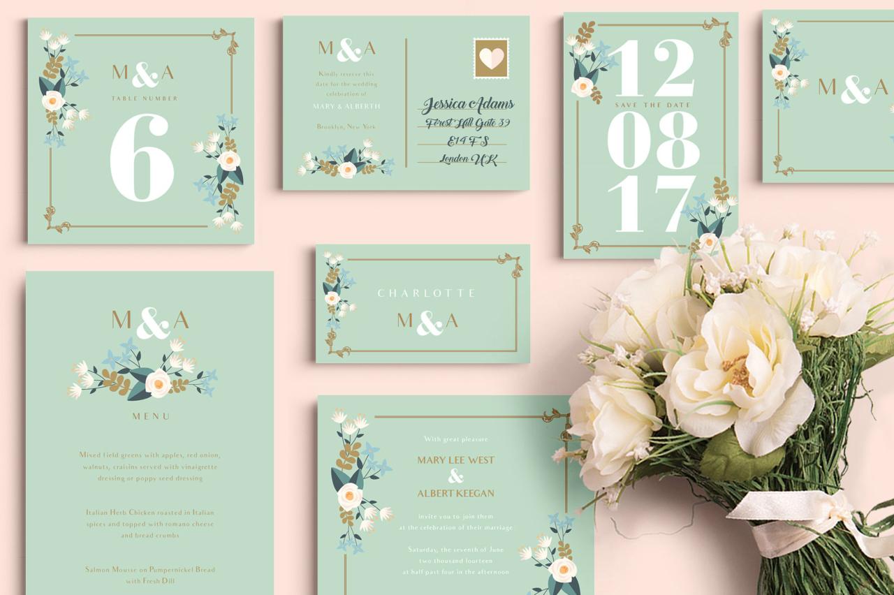 pear wedding printable card set 1280x852
