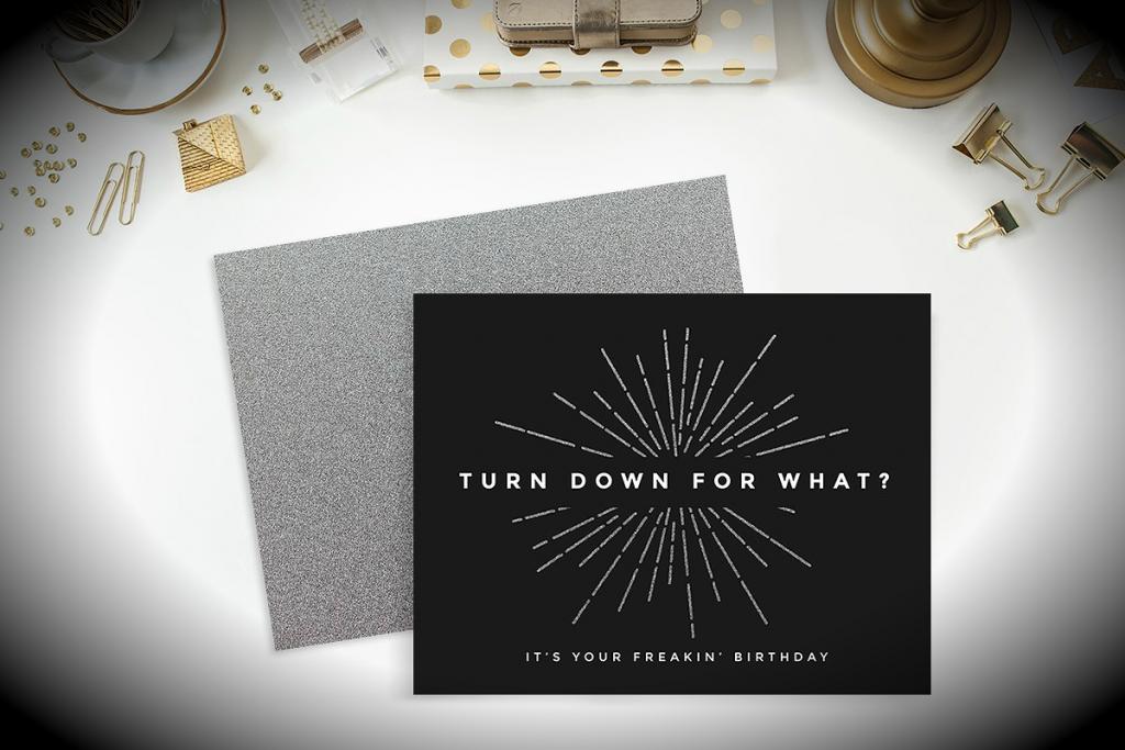 Printable Birthday Card Template Psd
