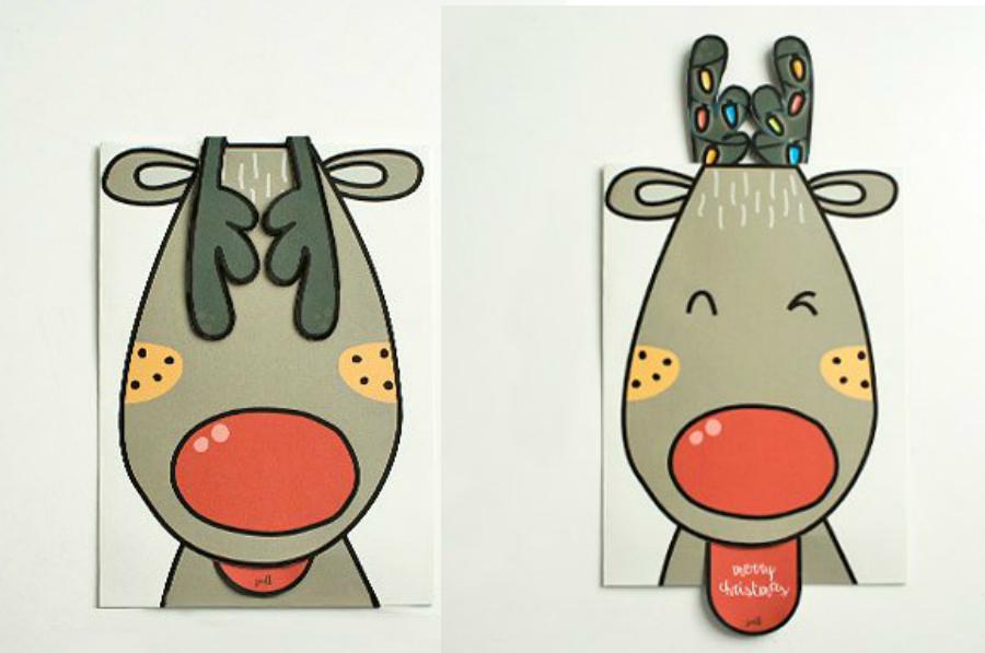 Rudolph Christmas Pop Up Card
