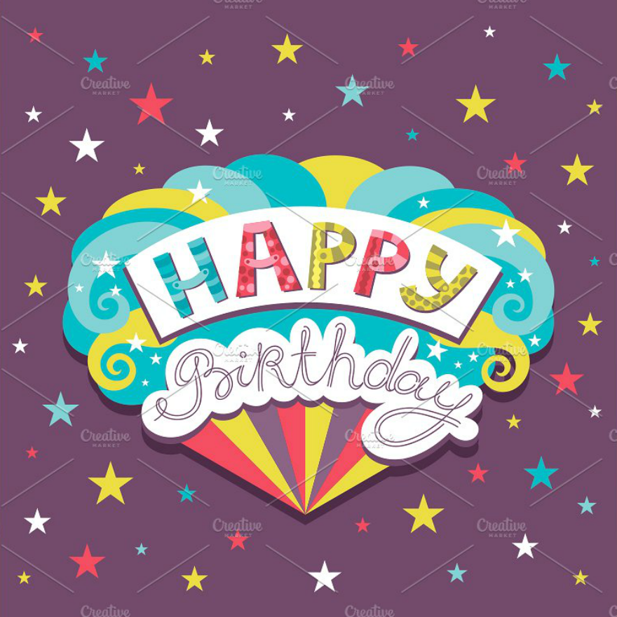Stars Birthday Greeting Cards