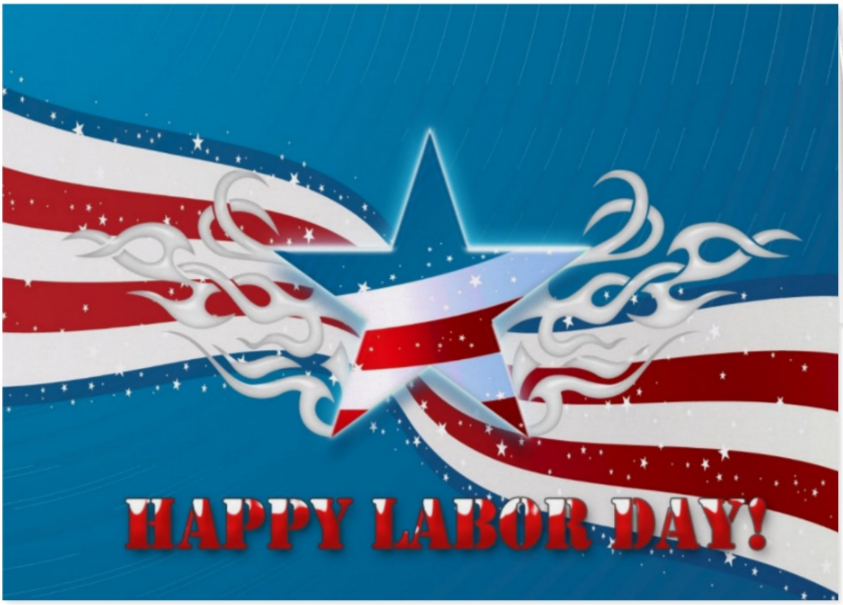 Stars and Stripes Labor Day Greeting Card