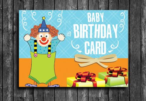 Sweet Happy Birthday Card Psd