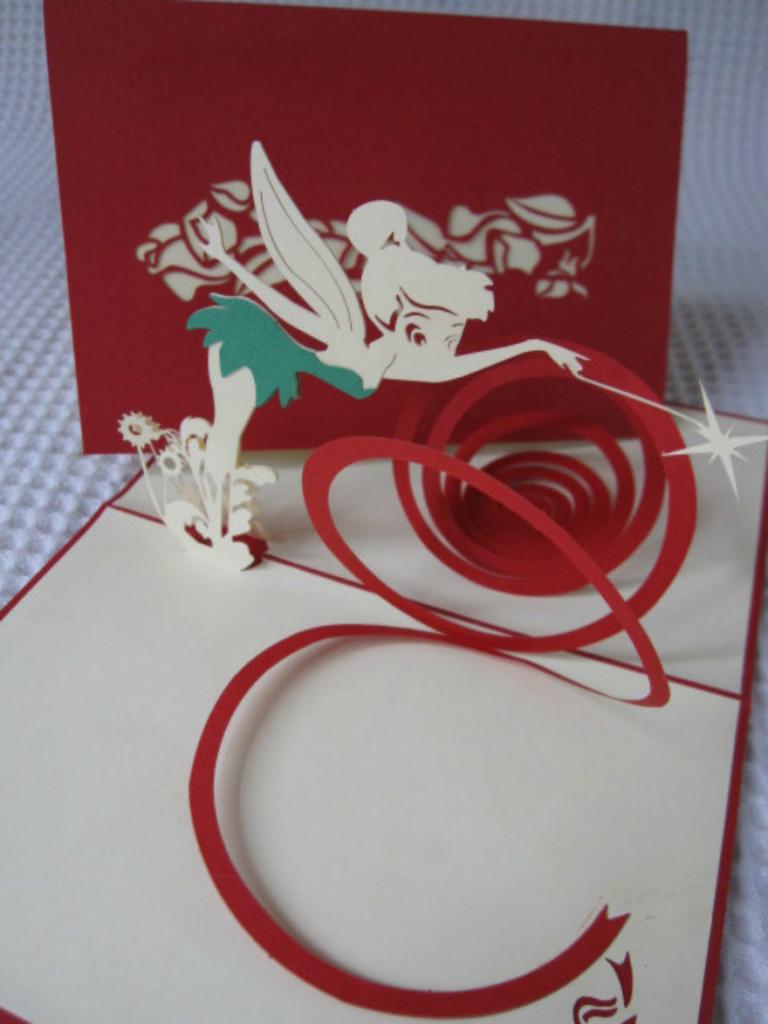 tinkerbell pop up birthday card 768x1024