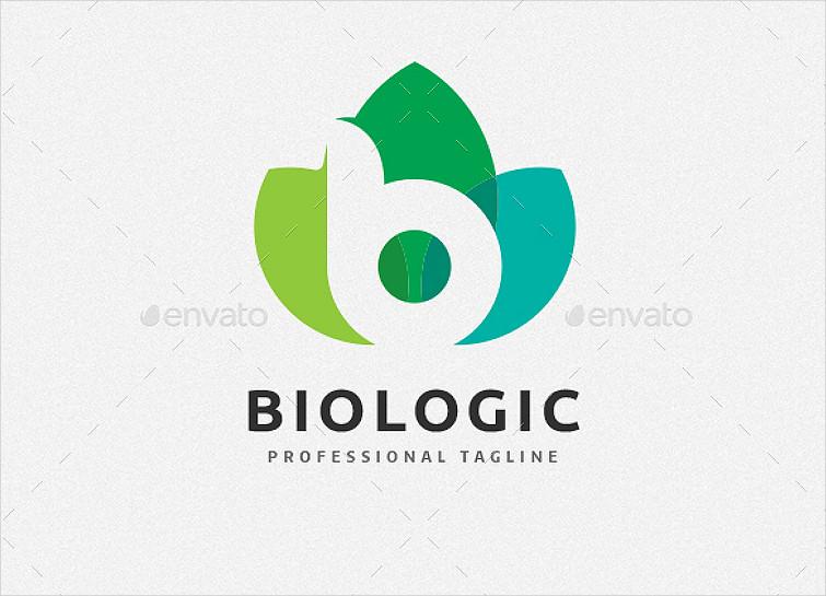 Tri-Leaf Letter B Logo Design