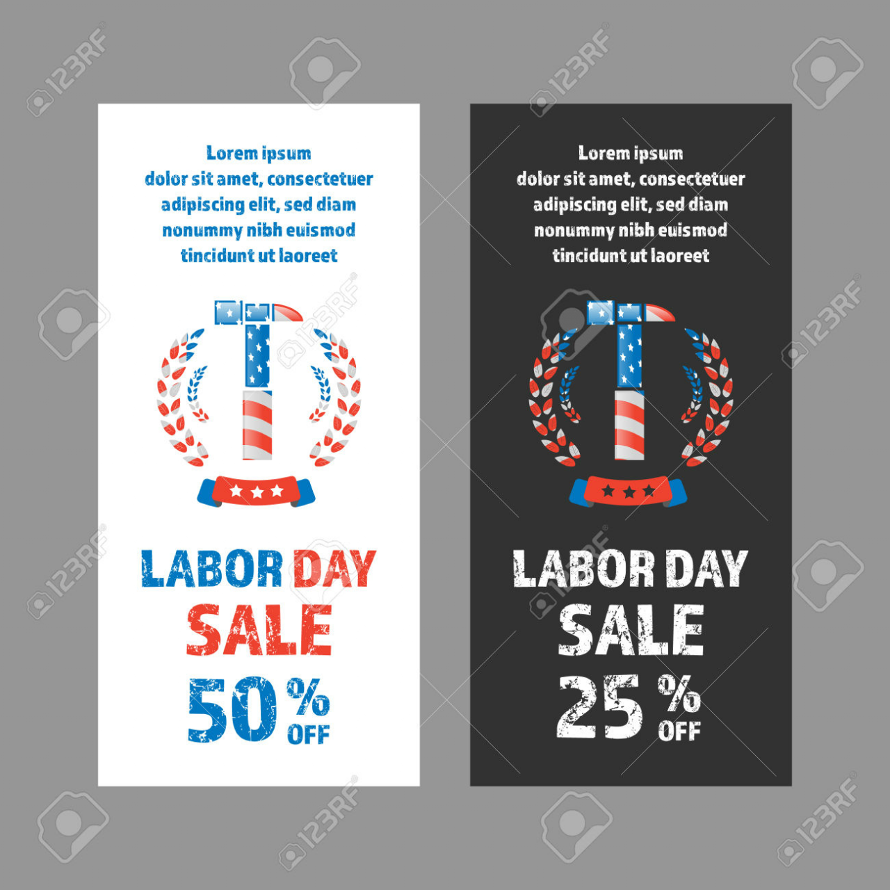 two color labor day sale banner 1280x1280