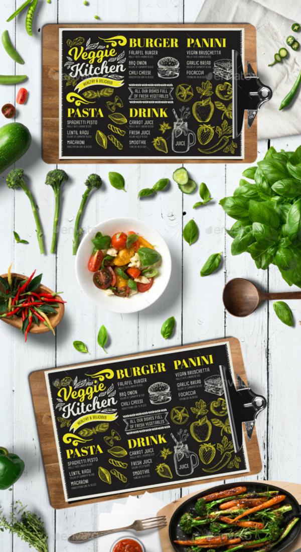 vegan food menu card 600x1099