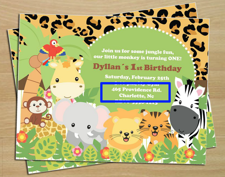 designing birthday invitations