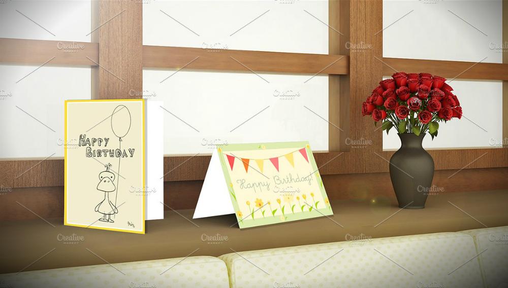 Simple Birthday Greeting Card Psd