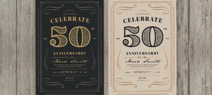 10 Vintage Invitation Card Designs