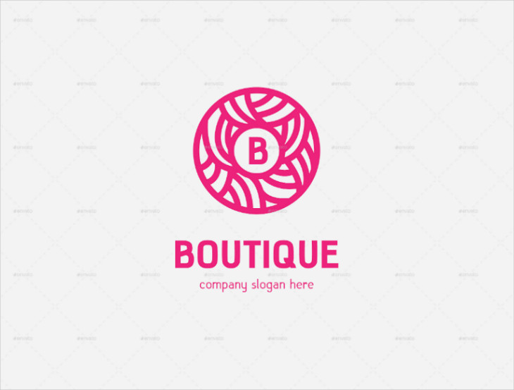Abstract Circle Boutique Lettermark Logo