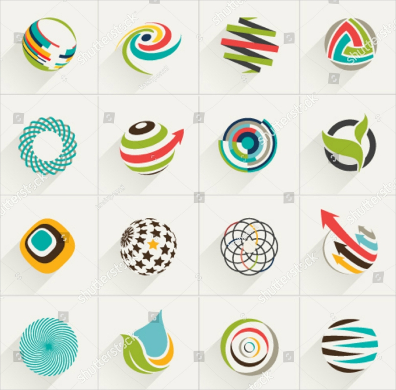 abstract web vector logo designs