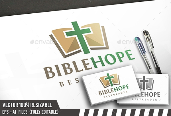 bible hope church logo design