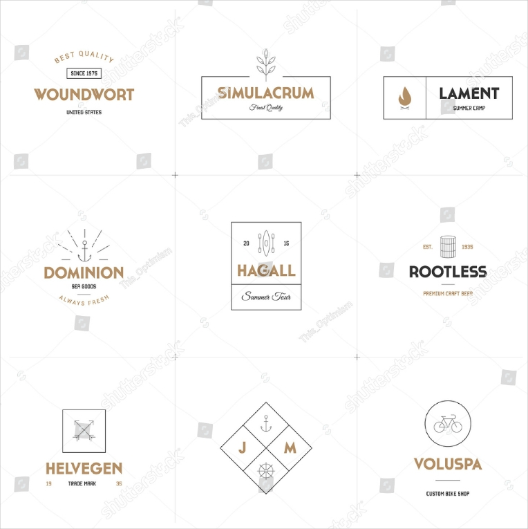 collection of minimalist vector logo designs