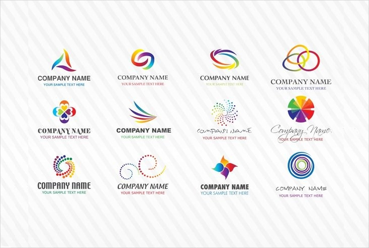 colorful stock vector logo design