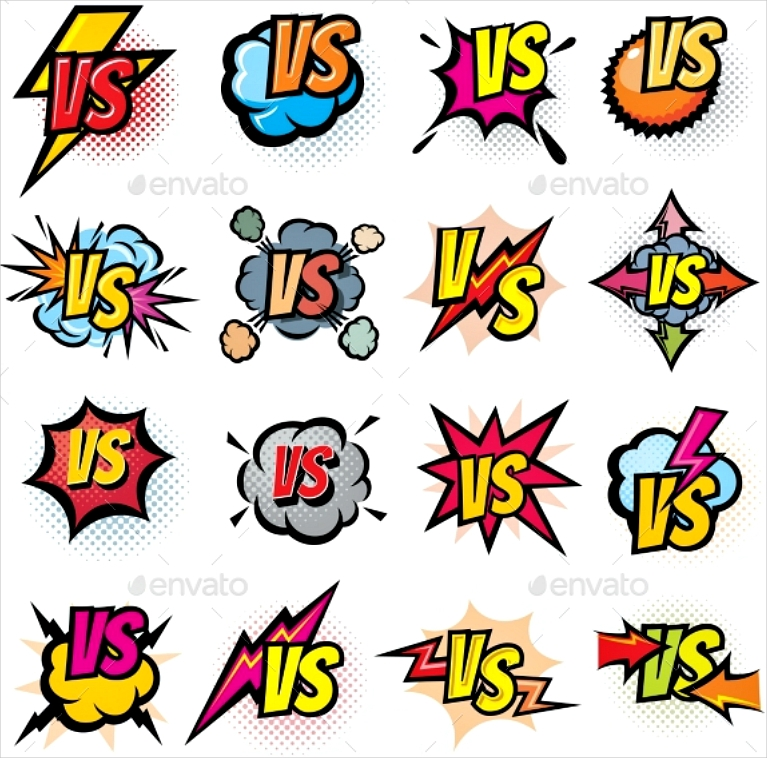 comical versus vector logo designs