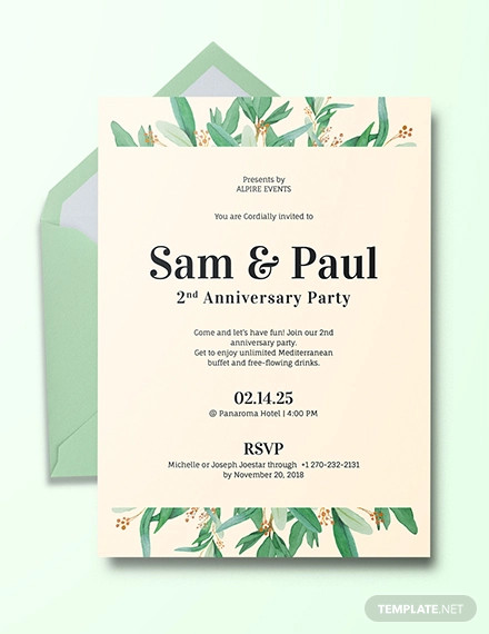 creative anniversary invitation