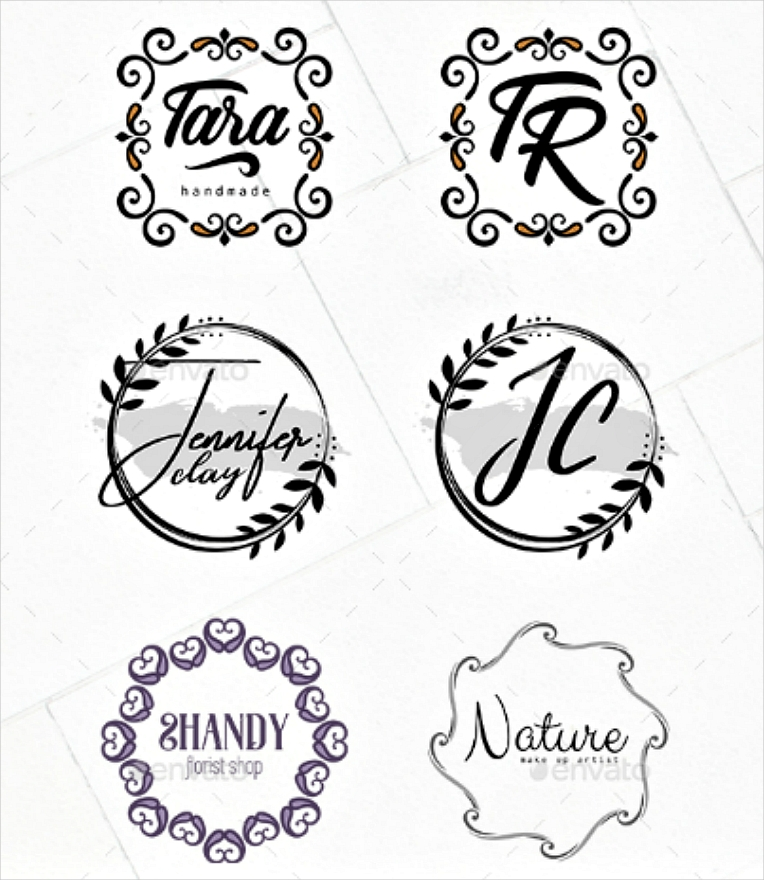 elegant ornate minimal logo designs