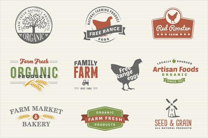 family farm market logo designs