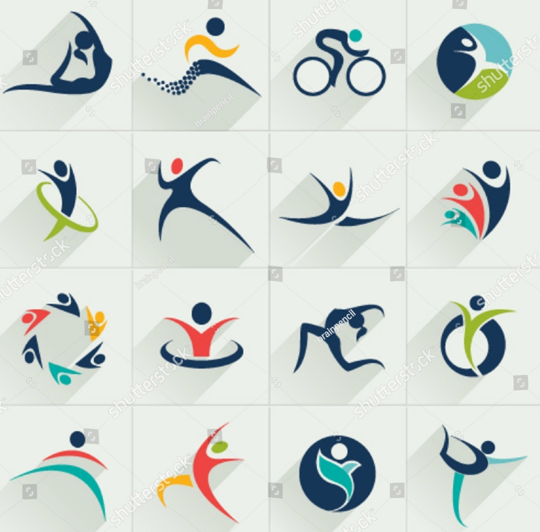 fitness sports vector character logo designs