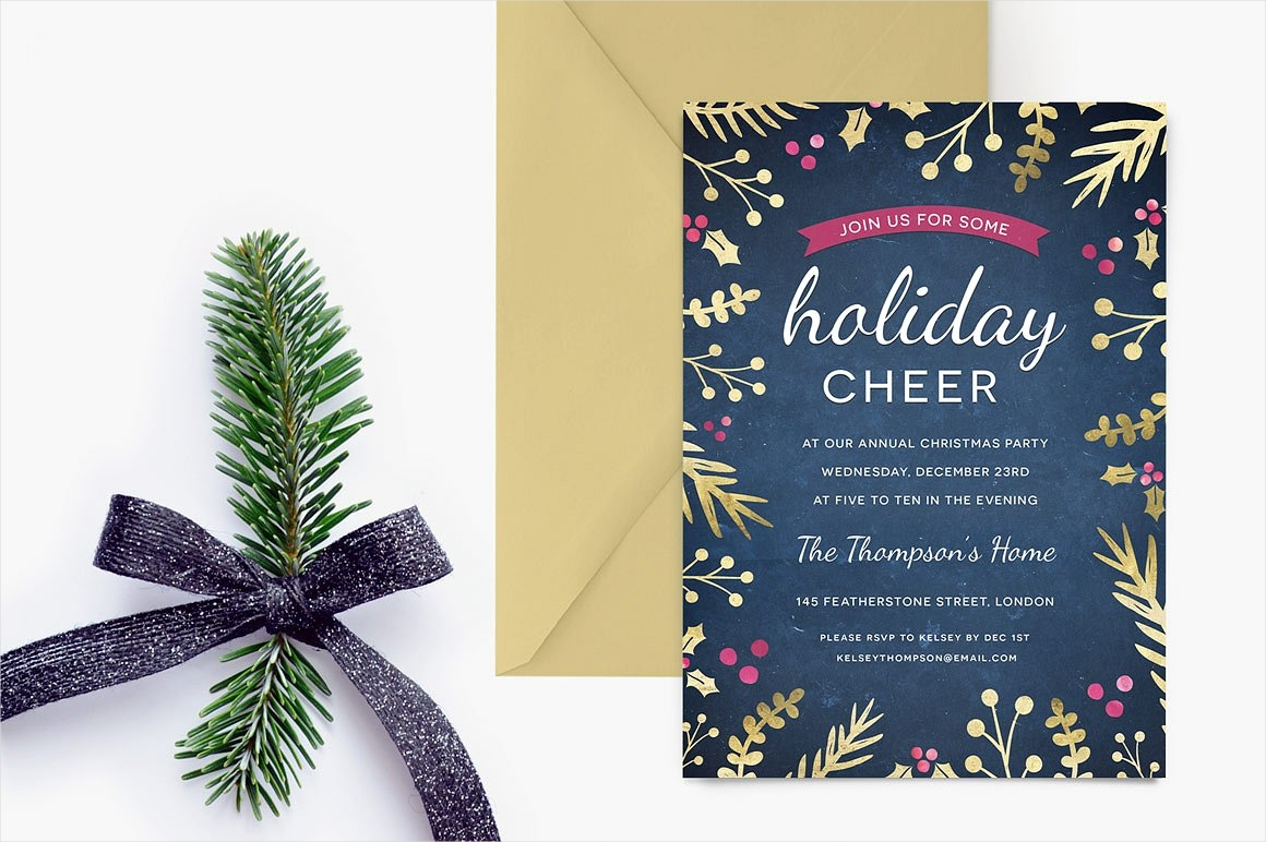 Holiday Cheer Invitation Party Designs