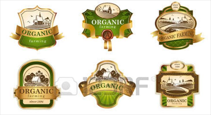 luxurious organic farm logo designs
